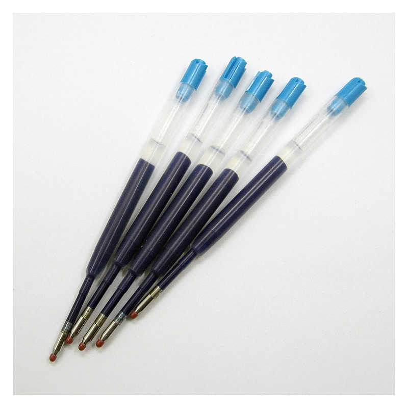 New 5Pcs/lot Black/Blue Ink Ball Point Pen Refills 0.5mm Gel Pen For Our Tactical Pen Accessories