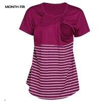 В полоску Грудное кормление Тройники одежда для беременных Для женщин Футболки топы для беременных и кормящих футболки летняя одежда новый