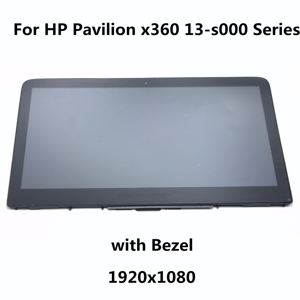 LCD Touch Screen Assembly + Bezel LTN133HL04-301 LP133WF2 SPL1 For HP Spectre Pro X360 G1-18005000022 13-S150SA 13-S002NX