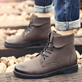 Leather Ankle Boots For Mens Motorcycle Bota Masculina Waterproof Male Flat Shoes Martin Retro Casual Short Boot Winter Autumn