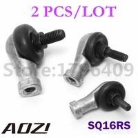 2pcs Lot High Precision 16mm SQ16RS M16x1 5 M16x2 Spherical Plain Bearing Rod End With Ball