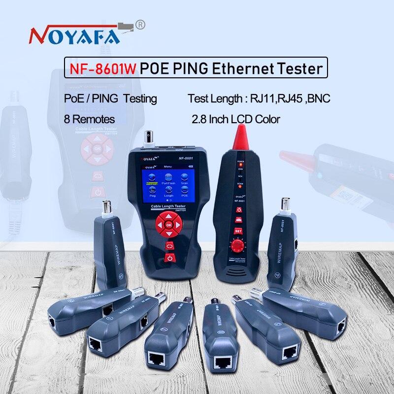 Nouveau NF-8601W multi-fonctionnel Testeur De Câble Réseau LCD Testeur De longueur De Câble de Rupture Testeur version Anglaise NF_8601W