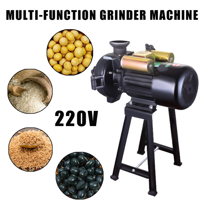 Warmtoo 1Pcs 220V 1500W Electric Mill Wet Dry Grinder Powdering Machine For Corn Grain Rice Wheat 1400r/Min Food Processors multifunctional corn and rice puffing machine grain bulking extruder machine puffed maize snacks making machine zf