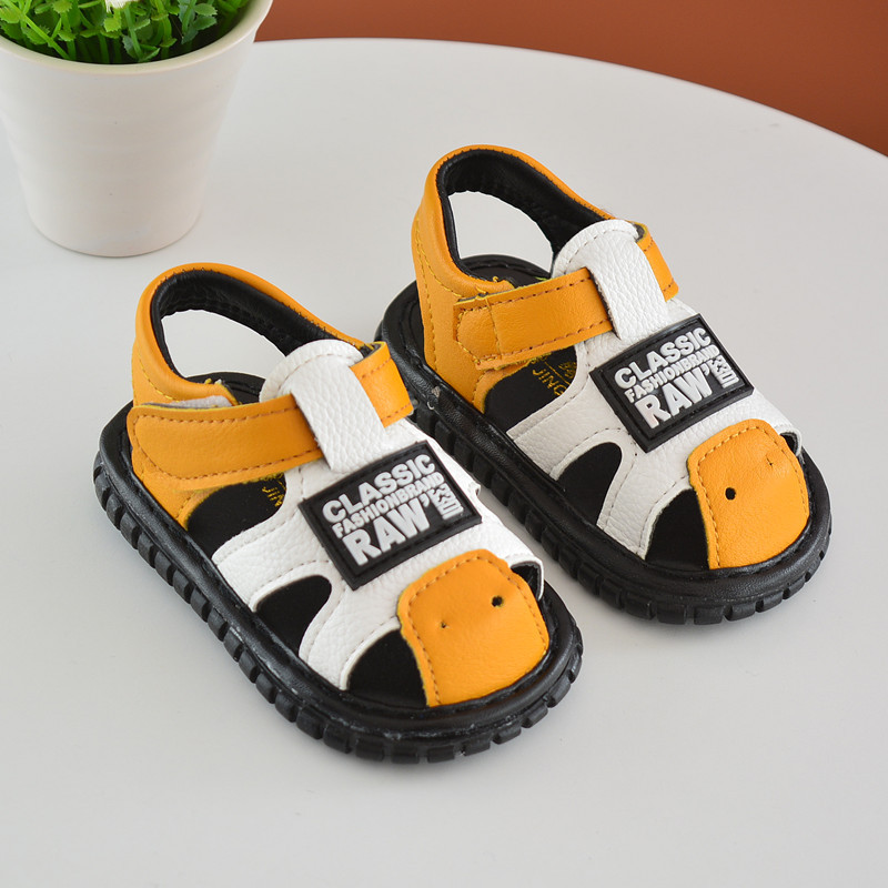 toddler sandales bebe filles Baby called shoes male baby girl baby Baotou soft bottom will ring 2018 summer new childre shoes