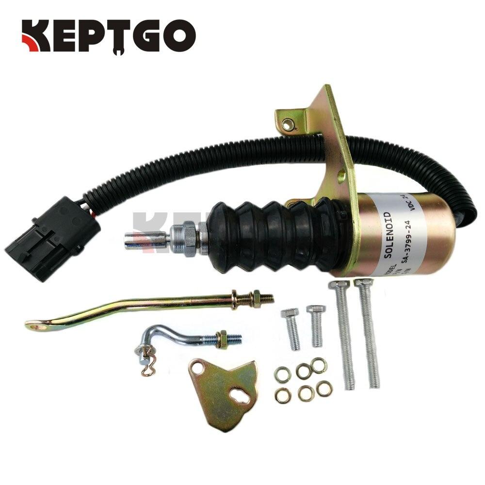 SA-3799-24, 6290050, 1751ES Fuel Shutoff Solenoid Kits For Bosch RSV, 24V fuel shutoff solenoid valve 3932017 sa 3742 12 for rsv solenoid coil free shipping