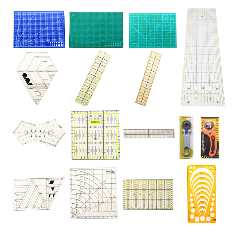 Patchwork Tool Complete Style Quilting Tools Quilting Ruler School Stationery Supplies Tailor A4 A3 Cutting Mat As You Wish цена