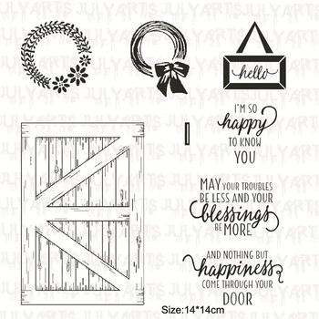GJCrafts New 2018 Clear Stamps and Dies Scrapbooking Rubber Clear Stamps for Card Making Barn Door Dies Stamp DIY Background Скрапбукинг