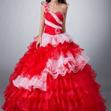 cecelle Red White Ball Gown Quinceanera Dresses 15 Dresses
