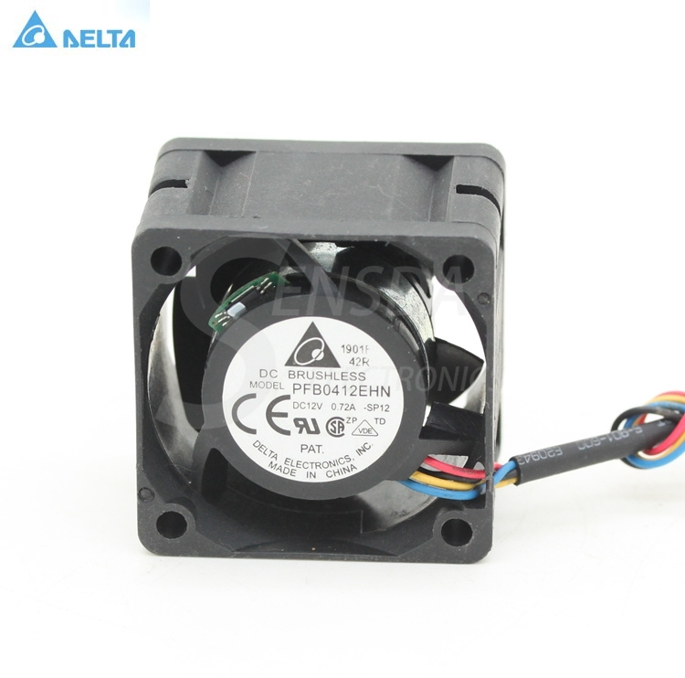 Delta PFB0412EHN 4028 40mm 4cm 12V 0.72A 4 -pin pwm industrial server inverter cooling fans