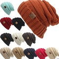 Mulheres Quentes kint pure color Beanie Hip Hop Tarja Gorro De Esqui chapéu do inverno do Crochet para o Design Exclusivo do sexo feminino