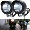 Bici de la motocicleta de Metal Blanco Luz Del Punto Del LED Frontal Del Faro Moto Cabeza Lámpara Auto Coche Con 8mm de Orificio de Montaje