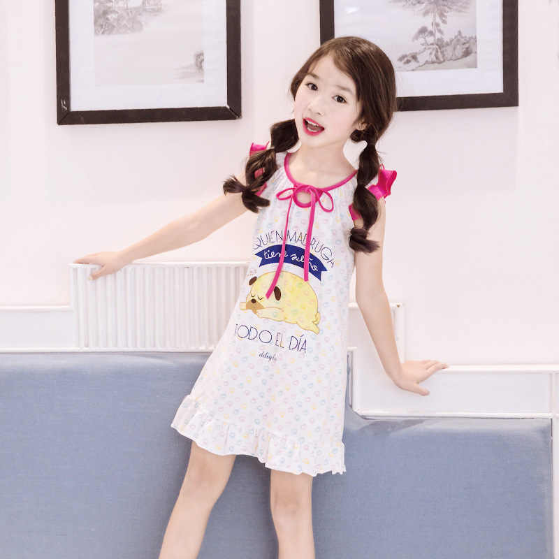 2d939a6c175fd Children Nightgown Princess Nightdress Teen Girls Sleep Dresses Kids ...
