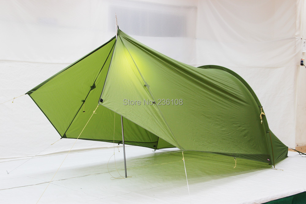 Luxe sil shelter hunting tent Ultra light one person Aluminum rod double layer strong nylon outdoor c&ing tent! -in Tents from Sports u0026 Entertainment on ... & Luxe sil shelter hunting tent Ultra light one person Aluminum rod ...