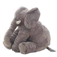 Fashion 60 cm Baby Knuffeldier Olifant Stijl Pop Pluche Kussen Kids speelgoed Voor Kinderen Kamer Bed Voor 0-12 Maanden-BYC142 PT49