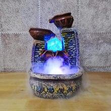 Fontaine à eau feng shui dintérieur humidité de lair, contribue à la méditation rustique, Vintage, rustique, miniature, décoration de jardin féerique