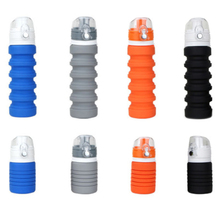 500ml Creative Silicone Sport Water Bottle Retractable Folding Leak Proof High Quality Tour Outdoor Portable BPA Free