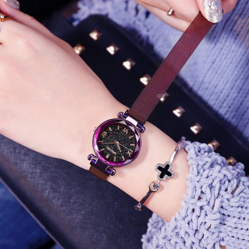 Luxury Brand Women Watches Ladies Starry Sky Magnet Buckle Clock Diamond Watch Relogio Feminino Wrist Watches for Women 1