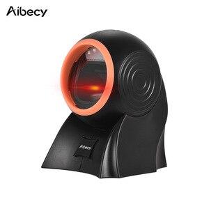 Image 1 - Aibecy настольный сканер штрих кода 1D 2D QR с usb кабелем всенаправленный считыватель штрих кодов регулируемое сканирование