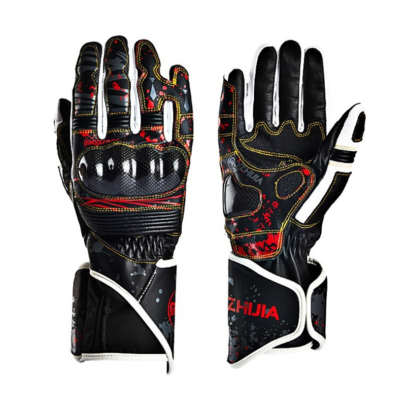Carbon Fiber Motorcycle Leather Gloves High Drop Resistant Protective Non-slip Gloves Guantes Moto Luvas Alpine Motocross Stars racmmer cycling gloves guantes ciclismo non slip breathable mens