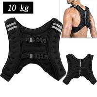10 кг бег Вес куртка ed жилет Спорт на открытом воздухе Бокс Обучение Фитнес-Оборудование для тренировки куртка песок одежда