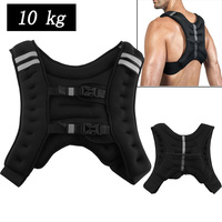 10kg Running Weight Jacket Weighted Vest Outdoor Sport Boxing Training Workout Fitness Equipment Waistcoat Jacket Sand Clothing