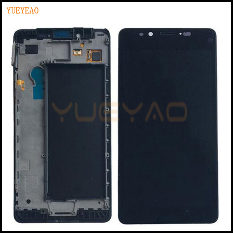 YUEYAO For Microsoft Nokia Lumia 950 LCD Display Touch Screen Digitizer Assembly With Frame Replacement Parts yueyao for nokia lumia 925 lcd display touch screen digitizer with bezel frame full assembly replacement parts