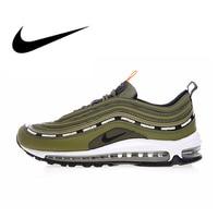 Оригинальные аутентичные Nike Air Max 97 OG X Непобедимый оливковый для мужчин дышащие кроссовки Открытый Спортивная обувь 2018 Новый AJ1986 300