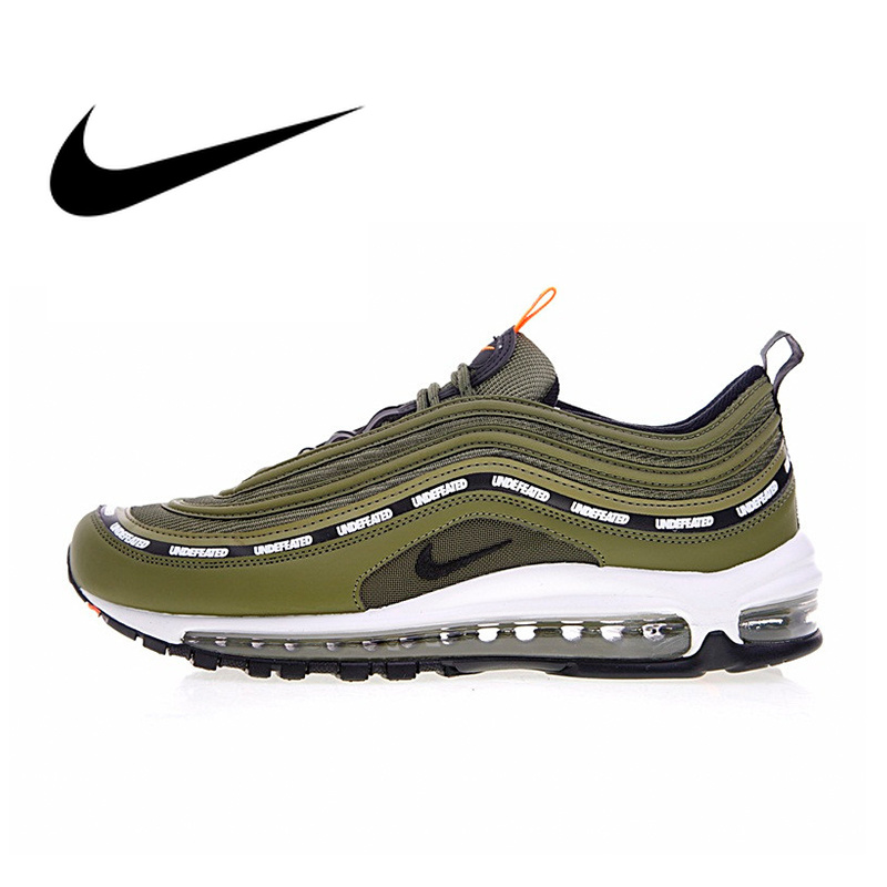 Original Authentic Nike Air Max 97 OG X Undefeated Olive Men's Breathable Running Shoes Outdoor Sneakers 2018 New AJ1986 300