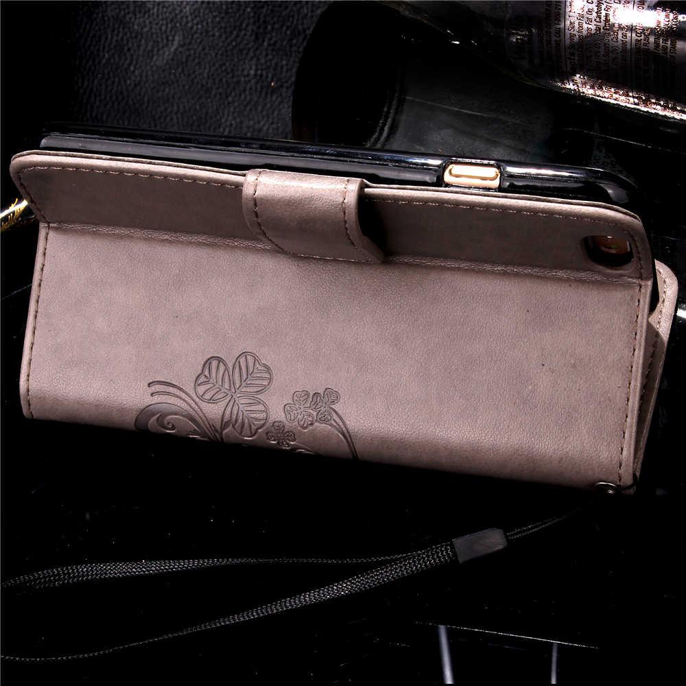 Funda Clover Cassa di Libro Per Huawei Ascend P8 P9 Lite Plus Cuoio DELL'UNITÀ di elaborazione Della Copertura Luxry Vibrazione Capa Telefono Cellulare Accessorie Capa