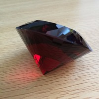 80mm Dark red 1 pieces of shinning crystal diamond Crystal Decorative shinning gift for lovers crystal souvenir