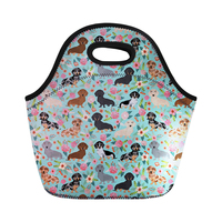 Neoprenelunch bags food storage 3D Chihuahuas Animal Print Thermal Food Bag Snacks Totes Women Lunch Box Bag Picnic Bags