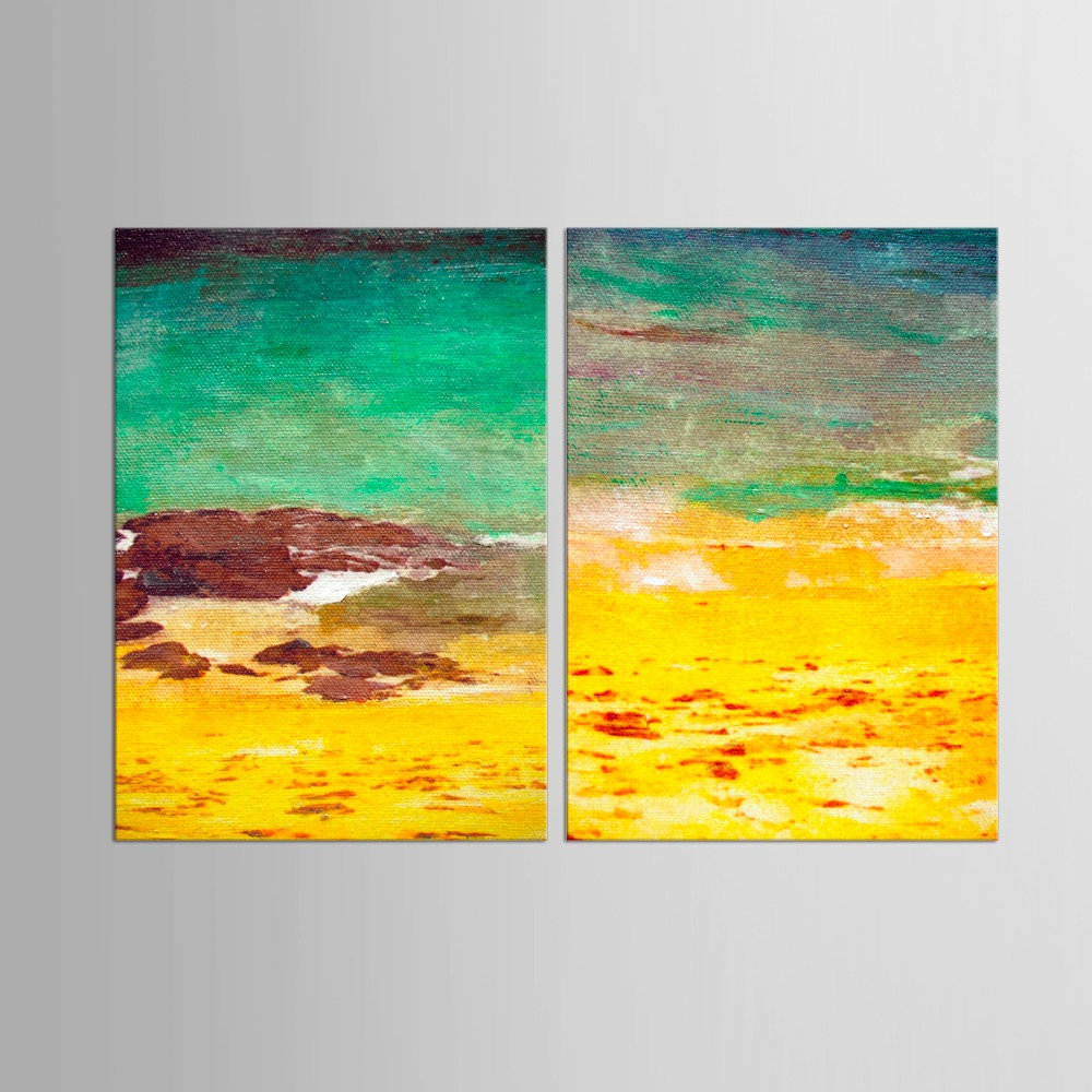 2 Panel Canvas Painting Abstract Landscape Decorative Modern ...