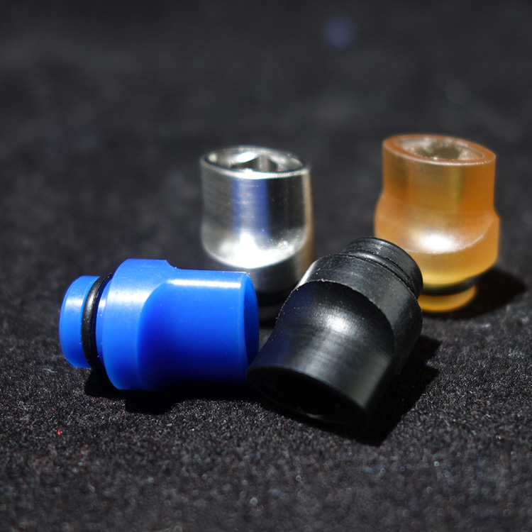 Mtl Drip Tip 510 PEI Ultem Stainless Steel Pom Mouthpiece Flat Vape Tips For IJUSTS Melo 4 Vape Accessories Ecig