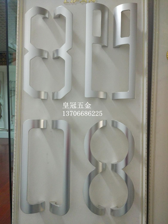 Aluminium alloy glass door, balcony sliding door handle, high-grade luxury wooden door handle, frameless glass door handle aluminium alloy frameless barn sliding glass door system