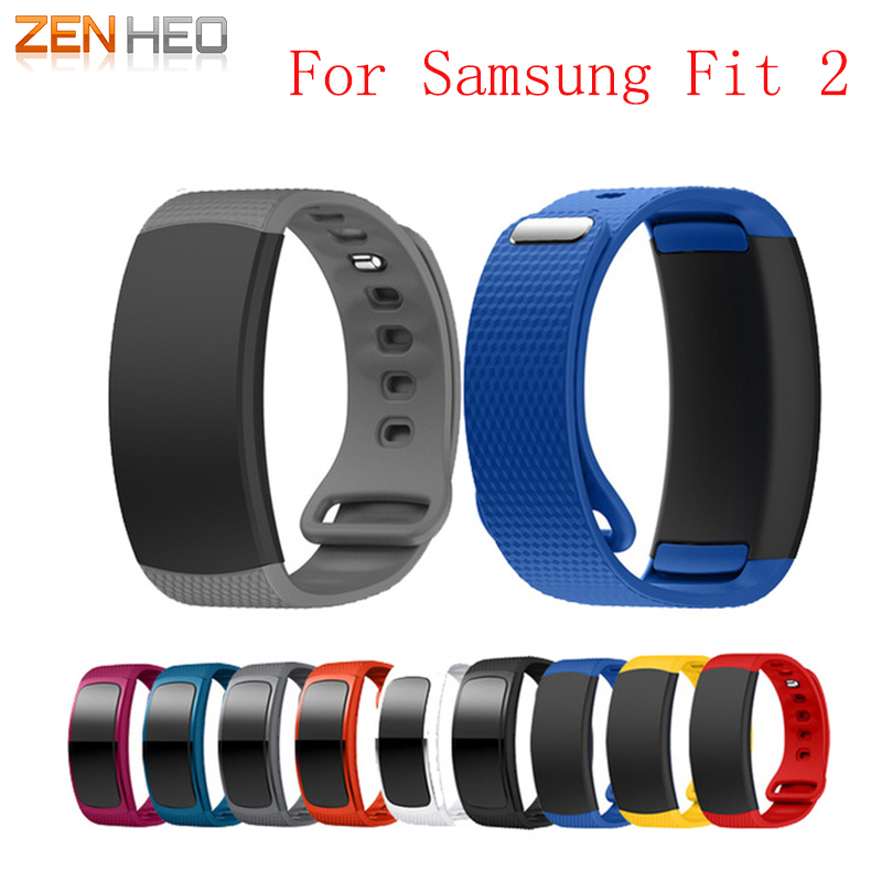 Watch Band Luxury Sport Silicone Watch Replacement Wrist Band Bracelet Strap For Samsung Gear Fit 2 SM-R360 Watch Wristband 2018