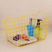 Metal Iron art Storage Basket Bathroom Toiletries Cosmetics Organizer for Laundry Decoration Kitchen Fruits
