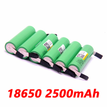 6PCS liitokala 18650 2500mah lithium battery inr1865025RM 2500 10a battery for electronic cigarette+Free shipping(China)