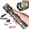 2300 Lm Portable LED Flashlight Rechargeable Zoomable Torch lampe torche Outdoor Camping Linterna + Car AC Charger 18650 Battery
