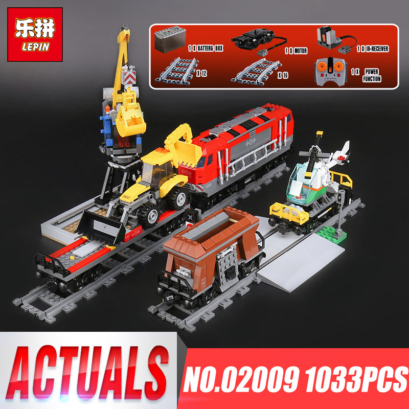Lepin 02009 Genuine 1033Pcs City Series Heavy-haul Train Set Building Blocks Bricks Educational Toys Boy Christmas Gifts 60098 цена