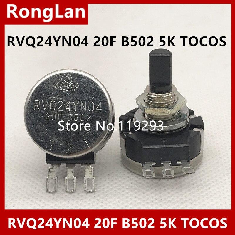 [BELLA]Original RVQ24YN04 20F B502 5K TOCOS potentiometer 360 degree black--5PCS/LOT[BELLA]Original RVQ24YN04 20F B502 5K TOCOS potentiometer 360 degree black--5PCS/LOT