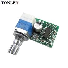 цена на TONLEN PAM8403 Mini Digital Amplifier Board 3W*25V Ultra Small Amplifier Board with Volume Adjustment DIY Amplifiers Module AMP