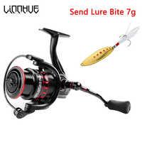 Linnhue, новый дизайн, рыболовная катушка LS 2000, спиннинговая катушка 5,0: 1, мелкая проволочная чашка, легкие рыболовные снасти для приманки, ловли...