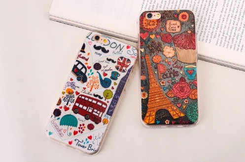 Floral Patterned For iPhone 7 Case Relief Floral TPU Smart Phone Casing suit for iphone6 ...