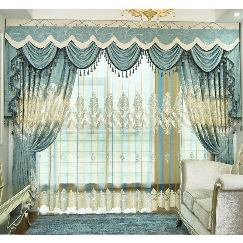 European Luxury Curtains For Window