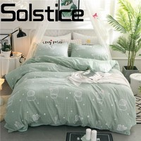 Home Textiles Products Dry & Soft 3/4pcs Process Printing Washed Cotton Bed Sheets Quilt Cover Pillowcase