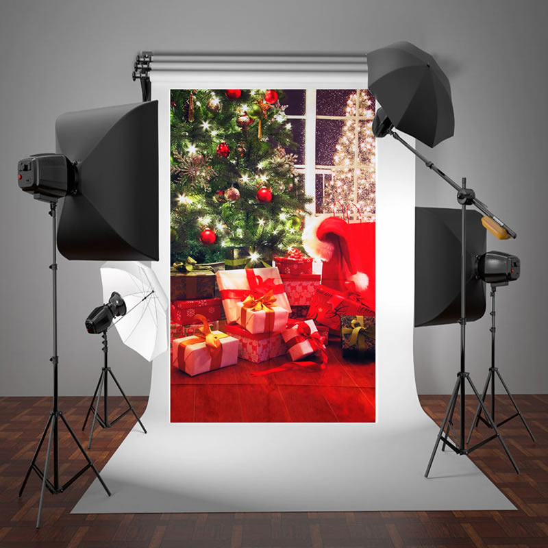 New Arrival 3x5ft Vinyl Background Studio Photography Photo Props Christmas tree Backdrop christmas background pictures vinyl tree wreath gift window child photocall fairy tale wonderland camera photo studio backdrop