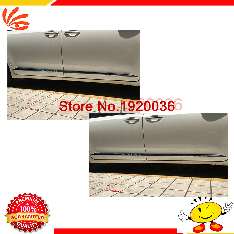 Car styling Chrome Body Side Door Trim Molding Exterior cover for TOYOTA SIENNA Door Side Molding Trim Side Door Trim