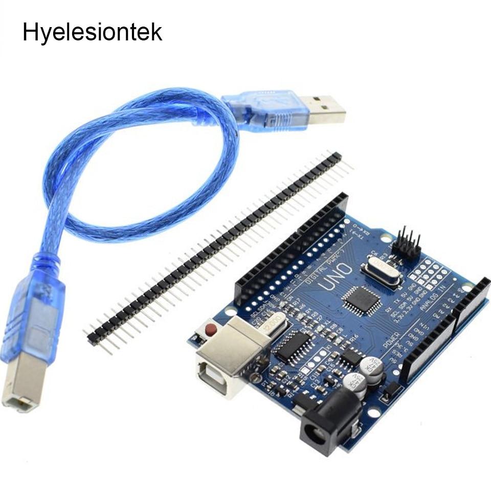 UNO R3 CH340G Mega328P For Arduino UNO Module + USB Cable + Case UNO R3 Development Board Electronic DIY Kit Integrated Circuit