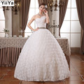 HOT Free shipping new 2015 white princess fashionable lace wedding dress romantic tulle wedding dresses Vestidos De Novia HS104