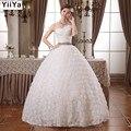 QUENTE Frete grátis novo 2015 branco princesa elegante vestido de casamento romântico de rendas tule vestidos de casamento Vestidos De Novia HS104